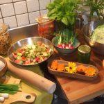 Cuisine et légumes du jardin de nos chambres d'hôtes Douarnenez